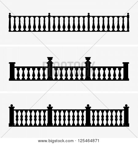 Set of balustrades ( shade pictures )