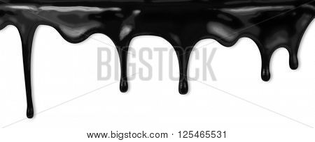 oil or black paint dripping