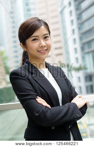 Businesswoman at outdoor