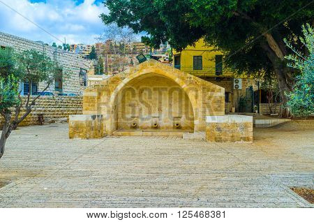 The place where Virgin Mary was announced located next to the Mary's Well in Nazareth Israel.