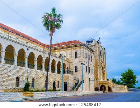 The Don Bosco vocational high school is one of the biggest educational institution in Nazareth Israel.