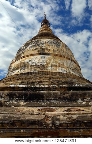 Dome of Shwesandaw Pagoda (Paya) in Bagan, Myanmar (Burma).