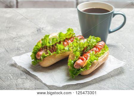 Hotdog With Big Sausage