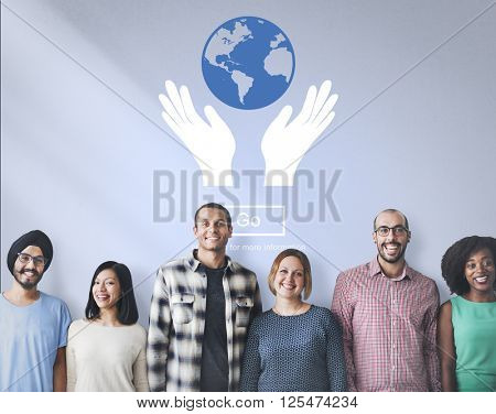 Global Prosperity Protect Earth Care Concept
