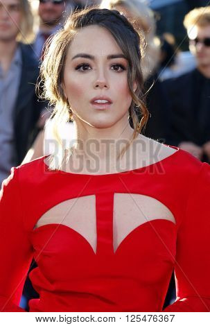 Chloe Bennet at the World premiere of 'Captain America: Civil War' held at the Dolby Theatre in Hollywood, USA on April 12, 2016.