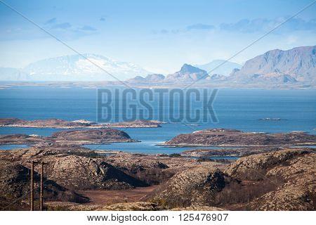 Empty Norwegian Landscape With Islands