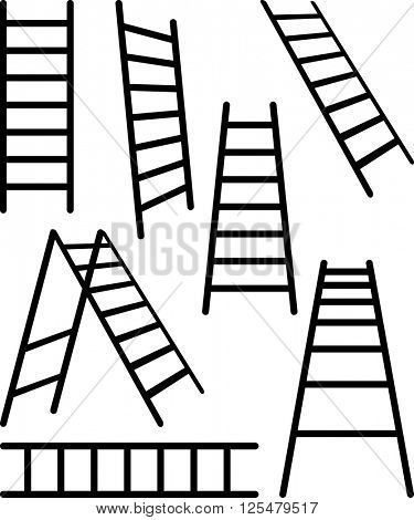 Ladder Icon Set Vector Illustration