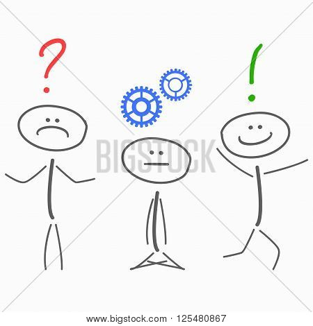 problem solving process, planning progress vector illustration