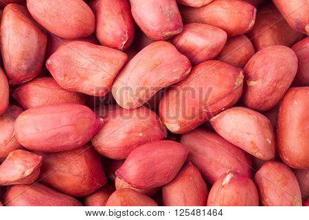 peeled peanuts as a background close-up macro.