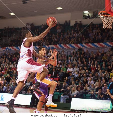 Bc Krasnye Krylia Forward Demetris Nichols (8) Gets To The Rim