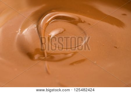 Background of melted milk chocolate. macro view