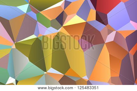 Abstract colorful geometric triangles background polygonal design.