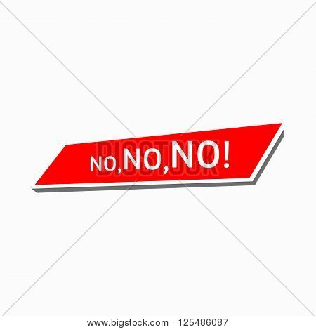No, no, no icon in simple style on a white background
