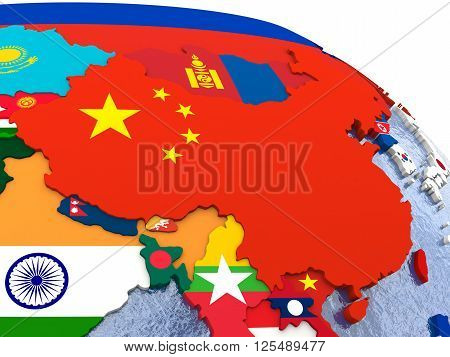 China On Political Map
