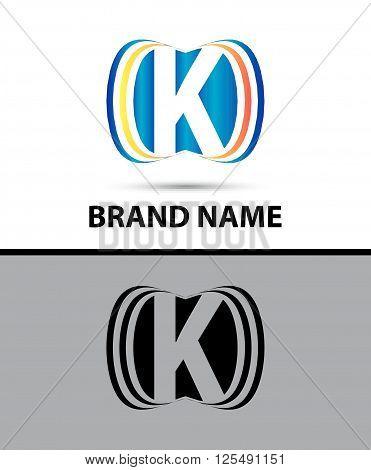 Abstract letter K logo creative template vector icon