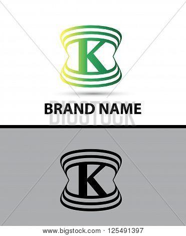 Abstract letter K logo design template design