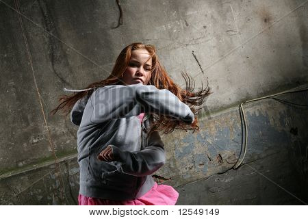 Young Woman Fighting
