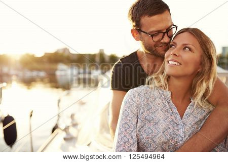 Couple Sitting On Their Boat
