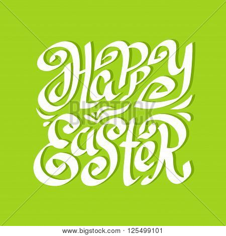 Happy Easter Calligraphy greeting card with beautiful typography handwritten text