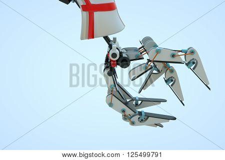 Robo Arm in Motion. Nice 3D Render
