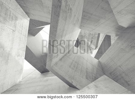 Concrete Interior With Chaotic 3 D Structures