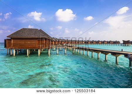 luxury vacation in Maldives - water bungalow