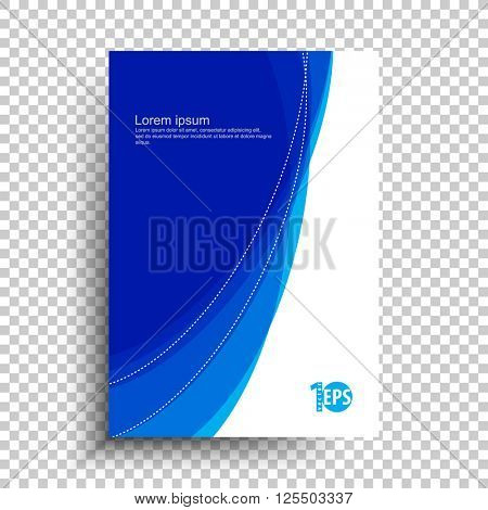 flat layout corporate business material abstract design.eps10 vector