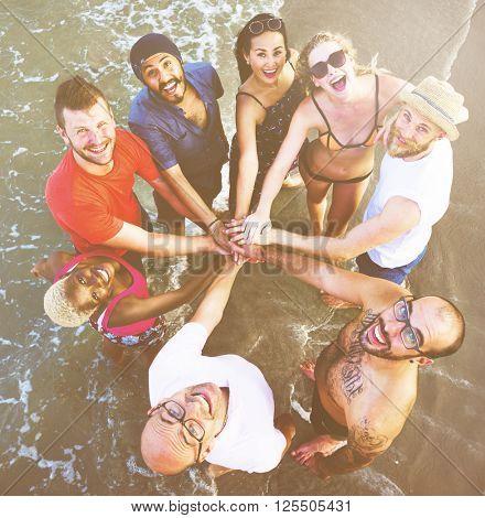 Beach Chill Emotion Enjoyment Fun Friends Concept