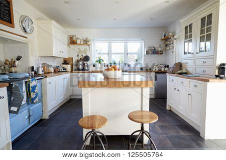 Kitchen In Contemporary Family Home