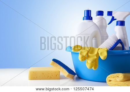 Professional Cleaning Equipment On White Table Overview