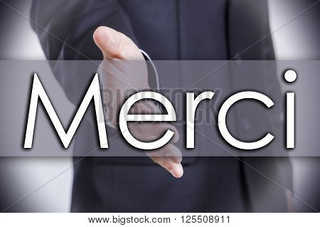 Merci - Business Concept With Text