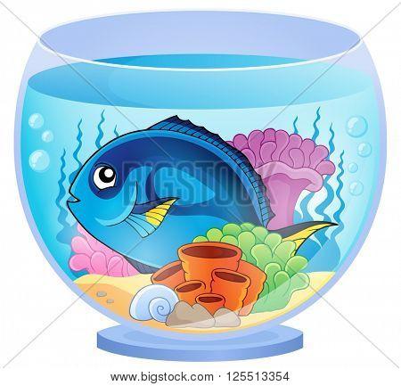 Aquarium topic image 5 - eps10 vector illustration.