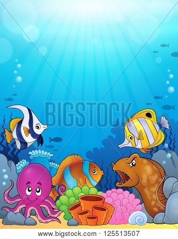 Ocean underwater theme background 5 - eps10 vector illustration.