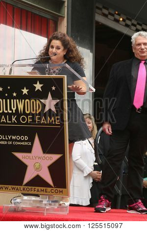 LOS ANGELES - APR 11:  Marissa Jaret Winokur, Harvey Fierstein at the Harvey Fierstein and Cyndi Lauper Hollywood Walk of Fame Ceremony at the Pantages Theater on April 11, 2016 in Los Angeles, CA