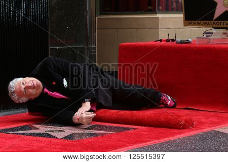 LOS ANGELES - APR 11:  Harvey Fierstein at the Harvey Fierstein and Cyndi Lauper Hollywood Walk of Fame Ceremony at the Pantages Theater on April 11, 2016 in Los Angeles, CA