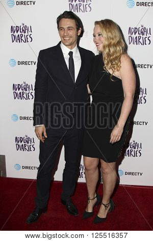 LOS ANGELES - APR 12:  James Franco, Pamela Romanowsky at the The Adderall Diaires Premiere Screening of A24/DIRECTV Series at the ArcLight Hollywood on April 12, 2016 in Los Angeles, CA