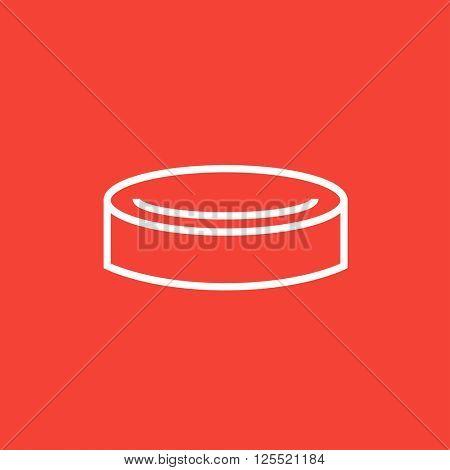 Hockey puck line icon.