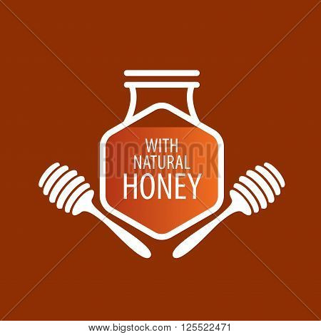 Honey logo template. Vector illustration. Design element