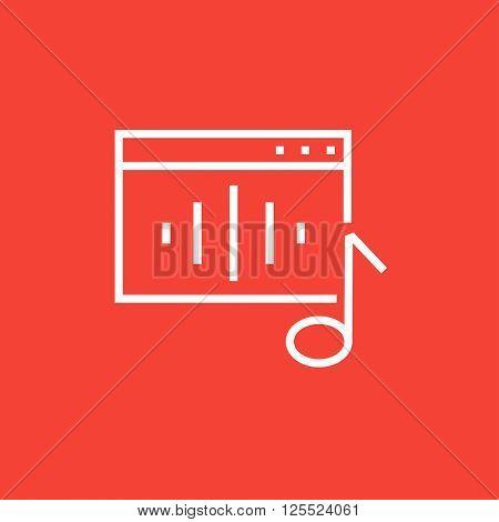 Radio line icon.