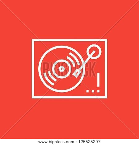 Turntable line icon.
