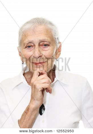Senior Woman Smiling In Camera