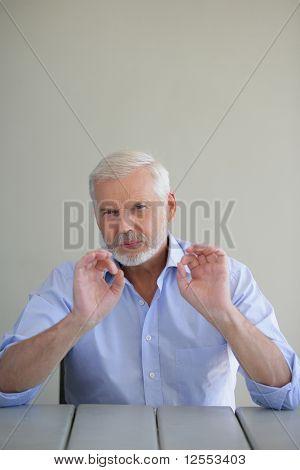 Portrait of a senior man pensive