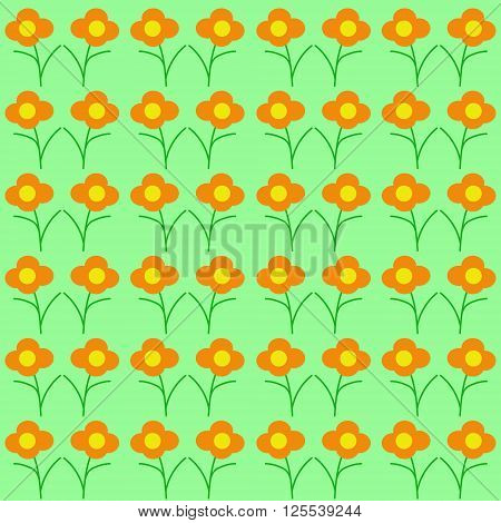 Japanese Pattern Wildflowers. Seamless Texture. Background for webs, e-mails, post card and so on.