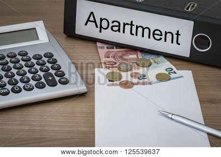 Appartment Written On A Binder