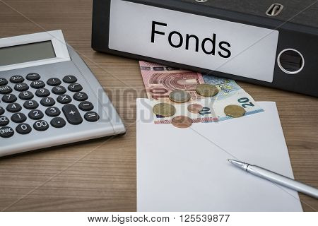 Fonds Written On A Binder