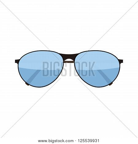 Vector flat fashion glasses isolated on white. Fashion Sunglasses. Hipster fashion glasses. Summer fashion glasses vector illustration.