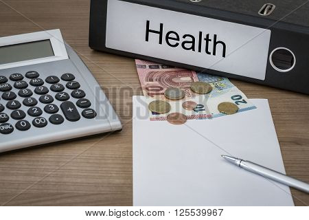 Health Written On A Binder