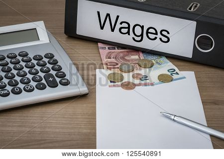 Wages Written On A Binder