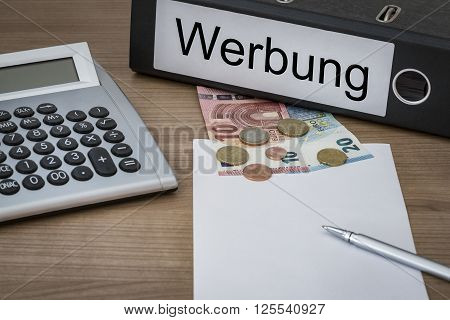 Werbung Written On A Binder