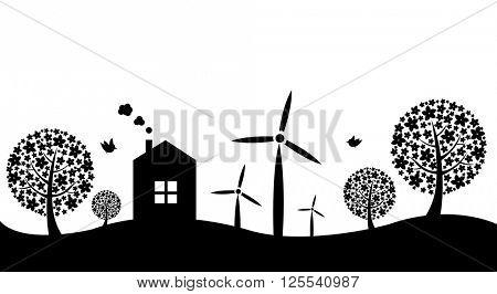 Eco Border, Vector Illustration
